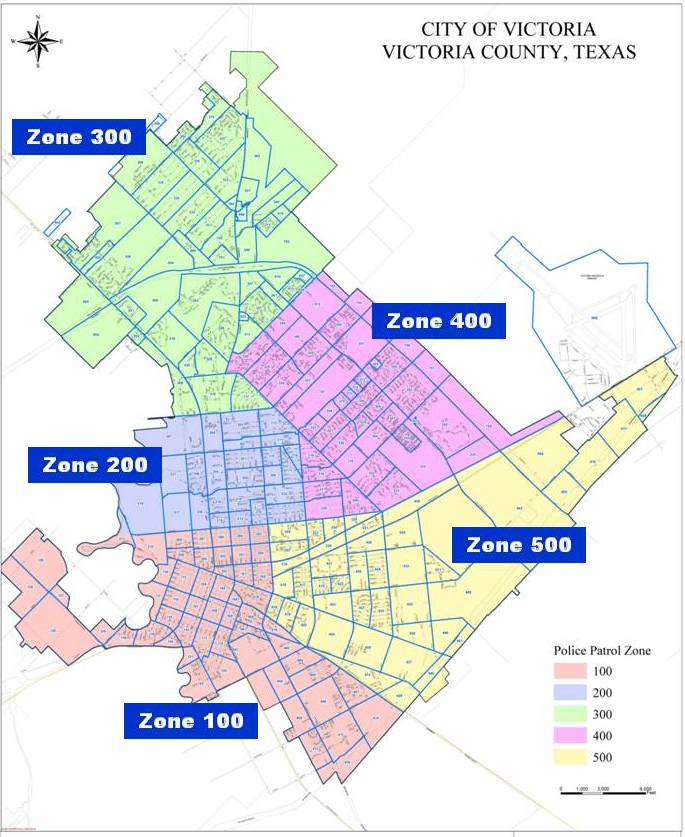 All Police Patrol Zones Map