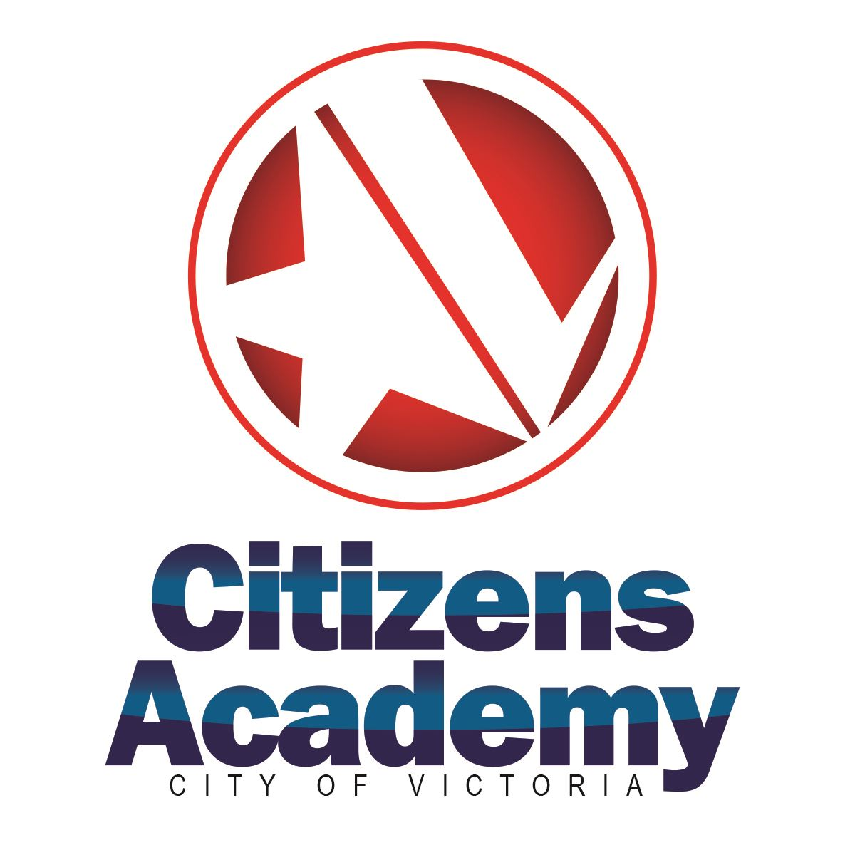 Citizens Academy logo featuring Victoria letter-V-star from City logo